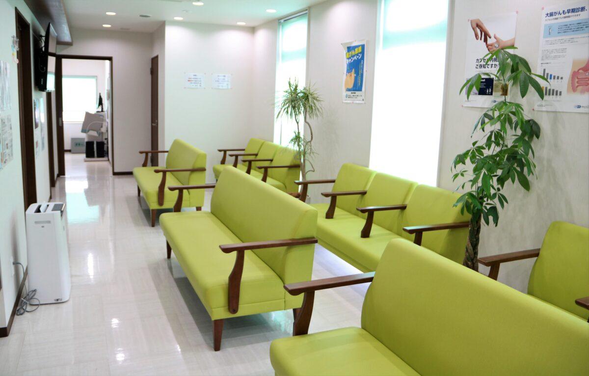 ふしや内科・消化器内科クリニックの待合室